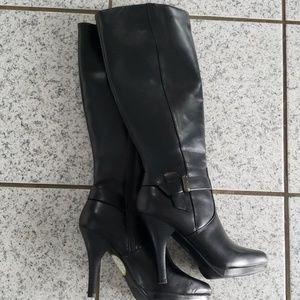 702e95d4a0c Worthington High Heel Boots Black 6 Mew